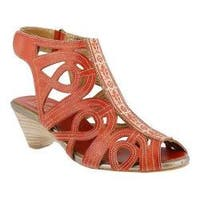 Women's L'Artiste by Spring Step Flourish Coral Leather