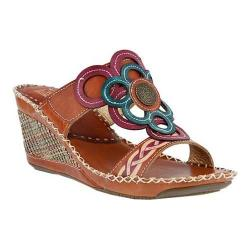 Women's L'Artiste by Spring Step Fulvia Slide Camel Multi Leather