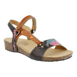 Women's L'Artiste by Spring Step Gau Ankle Strap Sandal Brown Multi Leather