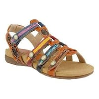 Women's L'Artiste by Spring Step Gipsy Sandal Camel Multi Leather