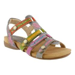 Women's L'Artiste by Spring Step Gipsy Sandal Gray Multi Leather