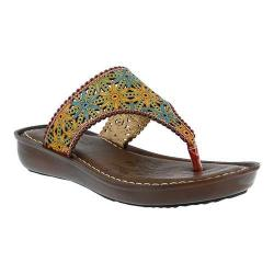 Women's L'Artiste by Spring Step Jobe Thong Sandal Red Multi Leather