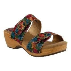 Women's L'Artiste by Spring Step Mittie Slide Rainbow Multi Leather