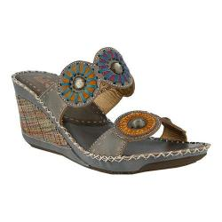 Women's L'Artiste by Spring Step Taffy Slide Gray Multi Leather