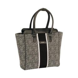 Women's Nine West Naia 14in Tote Black/White