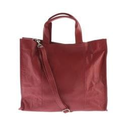 Women's Piel Leather Carry-All Tote 3091 Red