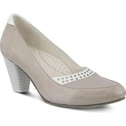 Women's Spring Step Navis Pump Gray Leather
