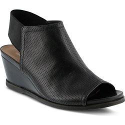 Women's Spring Step Rhiannon Ankle Strap Sandal Black Leather