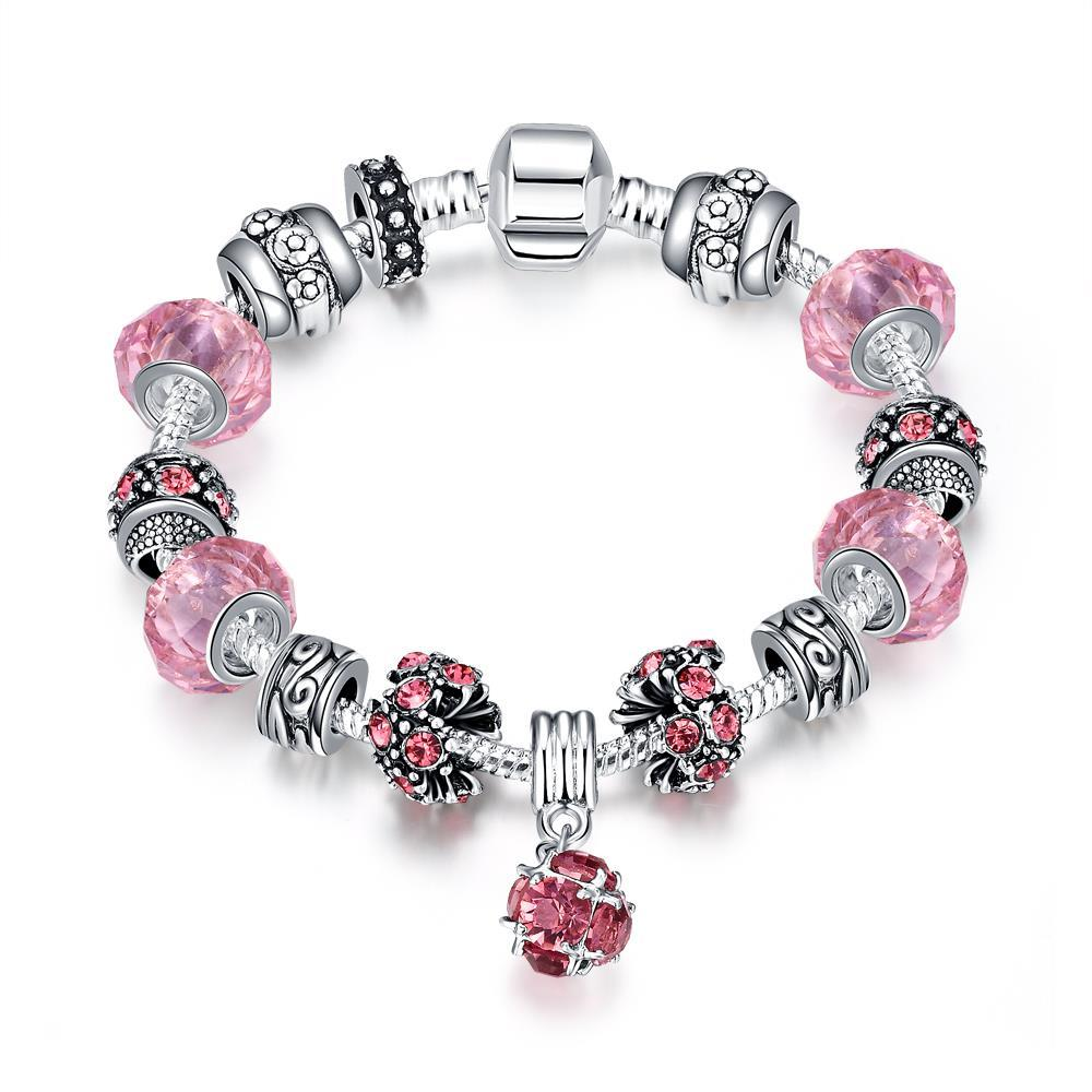 Vienna Jewelry 50 Shades of Pink Bracelet - Thumbnail 0
