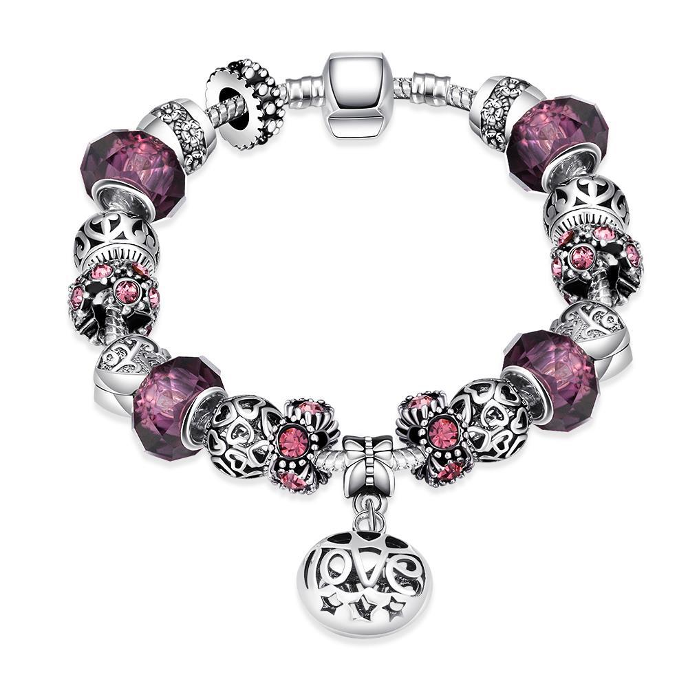 Vienna Jewelry Purple Fusion Bracelet