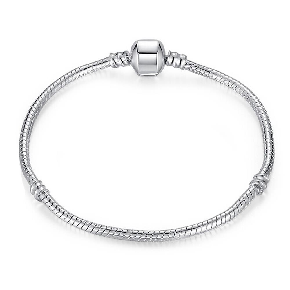 Vienna Jewelry The Original Plain Silver Bracelet