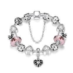 Vienna Jewelry Real Love Is Everywhere Pandora Inspired Bracelet