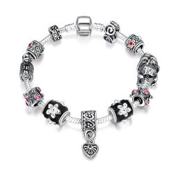 Vienna Jewelry Midnight Passion Pandora Inspired Bracelet