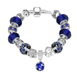 Vienna Jewelry 50 Shades of Aqua Blue Pandora Inspired Bracelet