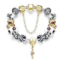 Vienna Jewelry Lock & Capture My Heart Pandora Inspired Bracelet