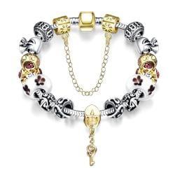 Vienna Jewelry Lock & Capture My Heart Pandora Inspired Bracelet