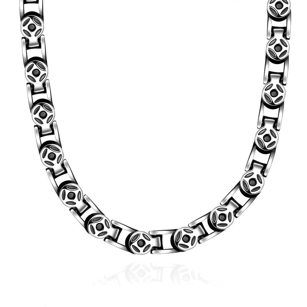 Vienna Jewelry Thick Cut Celtic Inspired Stainless Steel Necklace