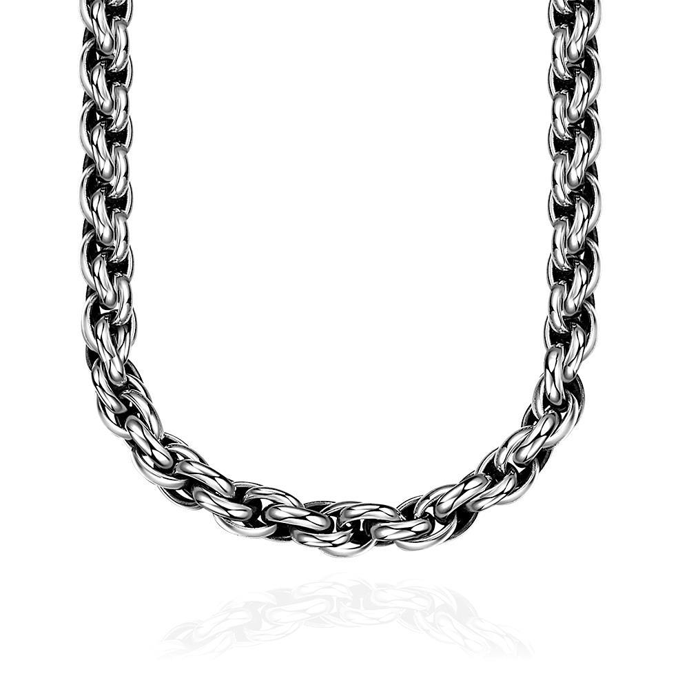 Vienna Jewelry Classic New York Chain Stainless Steel Necklace