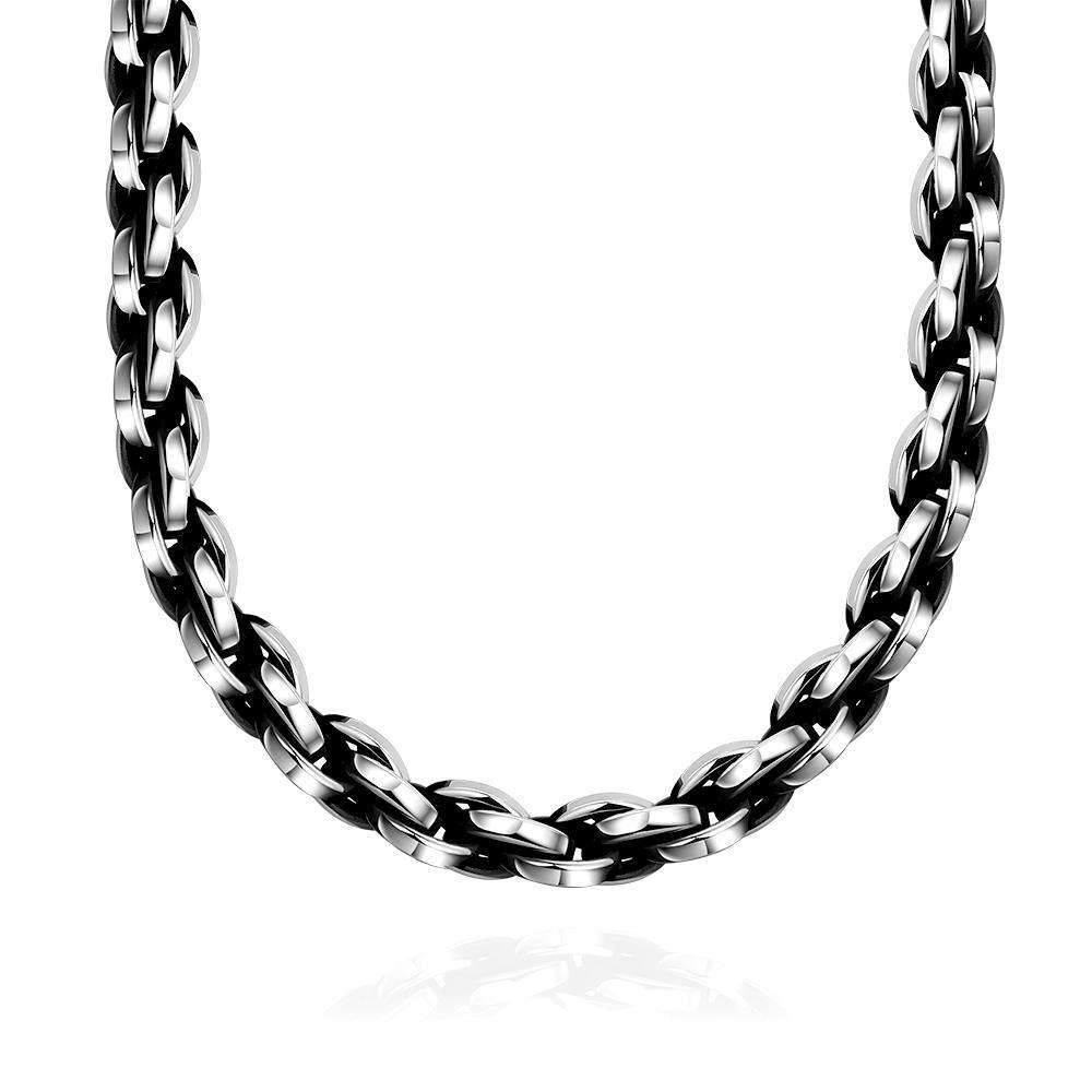 Vienna Jewelry Classic London Chain Stainless Steel Neckalce