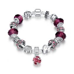 Vienna Jewelry 50 Shades of Ruby Red Bracelet - Thumbnail 0
