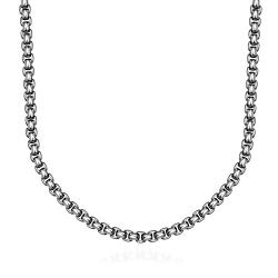 Vienna Jewelry Thin Cut Stainless Steel Necklace - Thumbnail 0