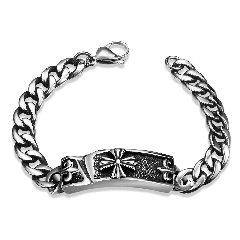 Vienna Jewelry Celtic Inspired Stainless Steel Bracelet