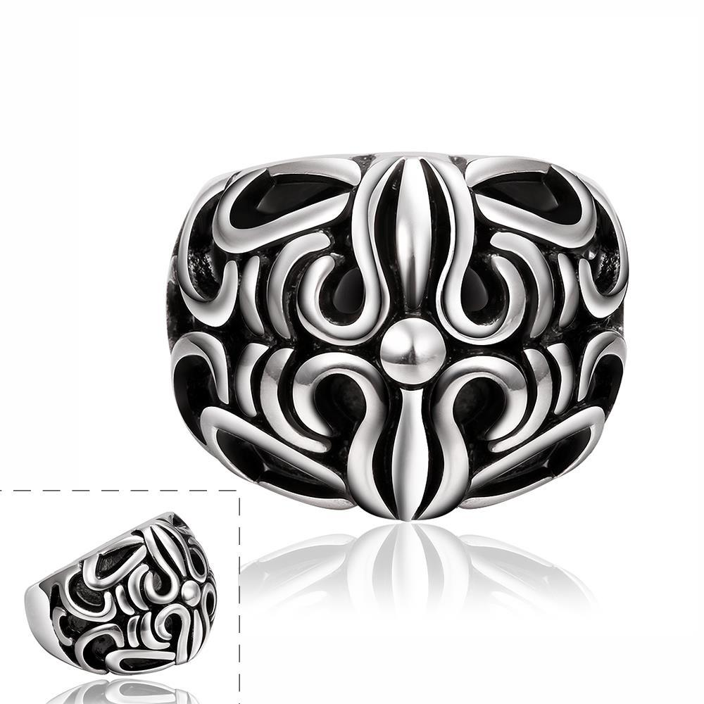 Vienna Jewelry Roman Inspired Stainless Steel Ring