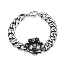 Vienna Jewelry Emblem Piece Stainless Steel Bracelet