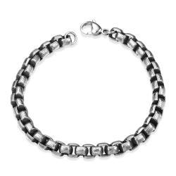 Vienna Jewelry Circular Angle Stainless Steel Bracelet