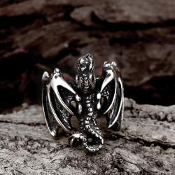Vienna Jewelry The Flying Dragon Stainless Steel Ring - Thumbnail 0