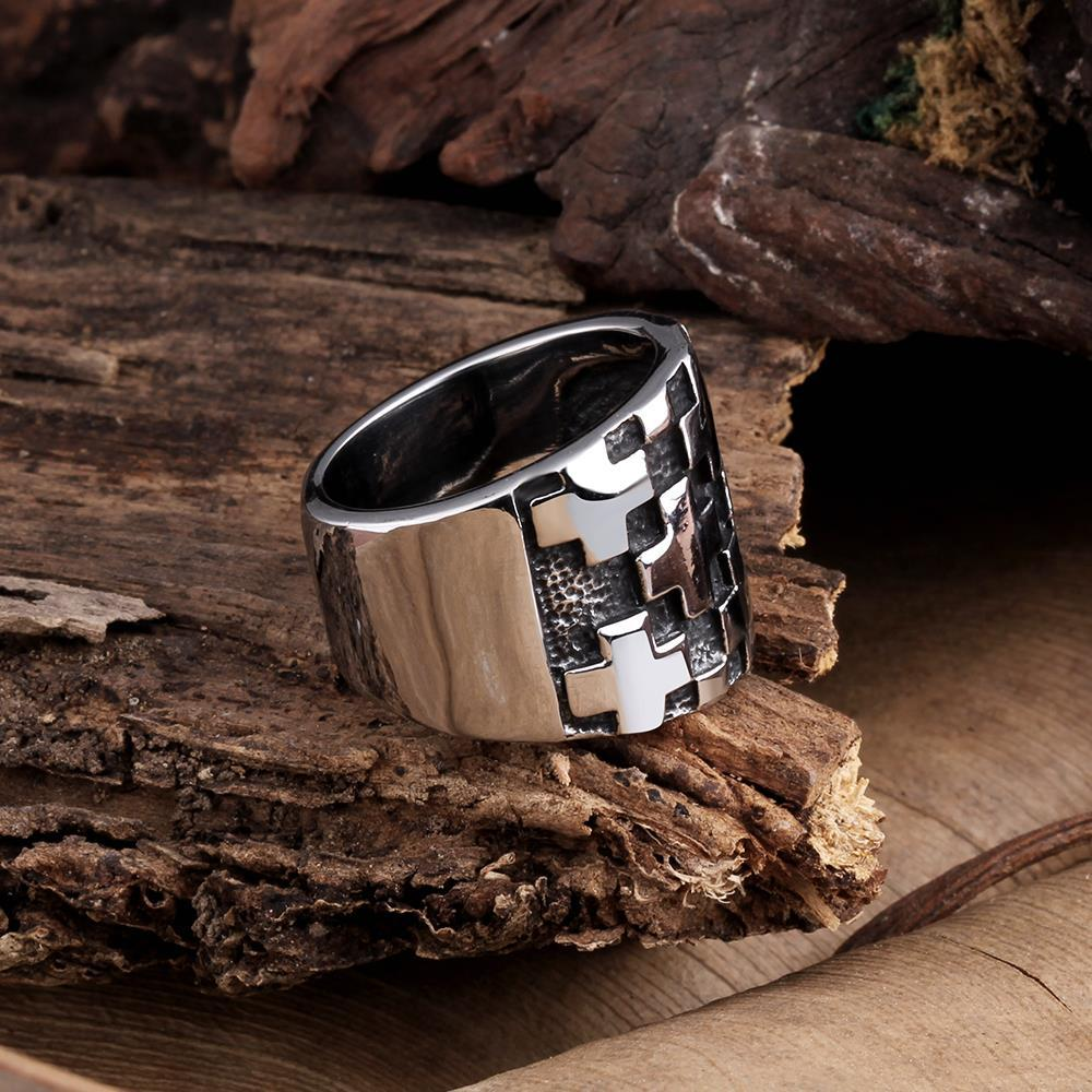 Vienna Jewelry Multiple Cross Stainless Steel Ring