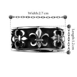 Vienna Jewelry New Orleans Emblem Stainless Steel Ring - Thumbnail 0