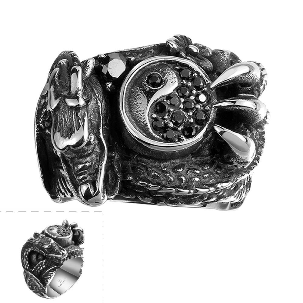Vienna Jewelry Abstract Claw Stainless Steel Ring