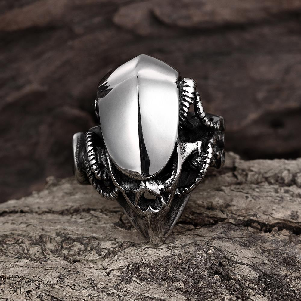 Vienna Jewelry Stainless Steel Abstract Reptile Ring