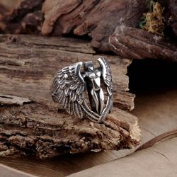 Vienna Jewelry The Flying Angle Stainless Steel Ring - Thumbnail 0