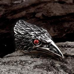 Vienna Jewelry The Falcon's Beak Stainless Steel Ring - Thumbnail 0