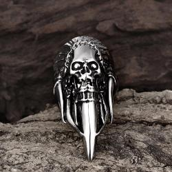 Vienna Jewelry Stainless Steel Skull Ring - Thumbnail 0