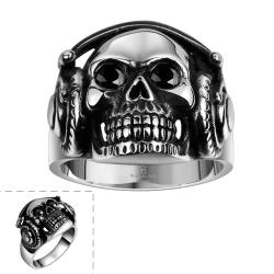 Vienna Jewelry Thick Stainless Steel Skull Ring - Thumbnail 0
