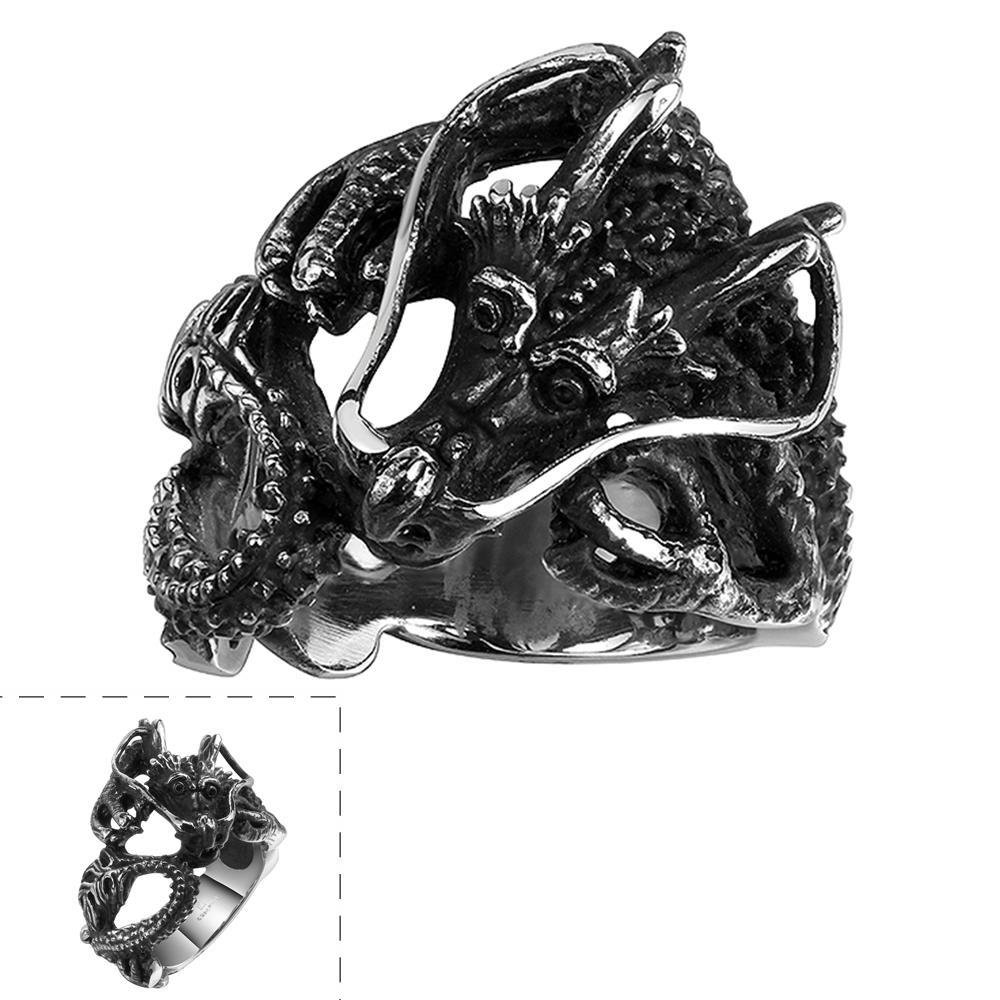 Vienna Jewelry The Ancient Dragon Stainless Steel Ring
