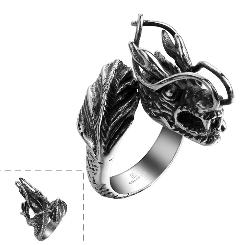 Vienna Jewelry Creatures of the Sea Stainless Steel Ring