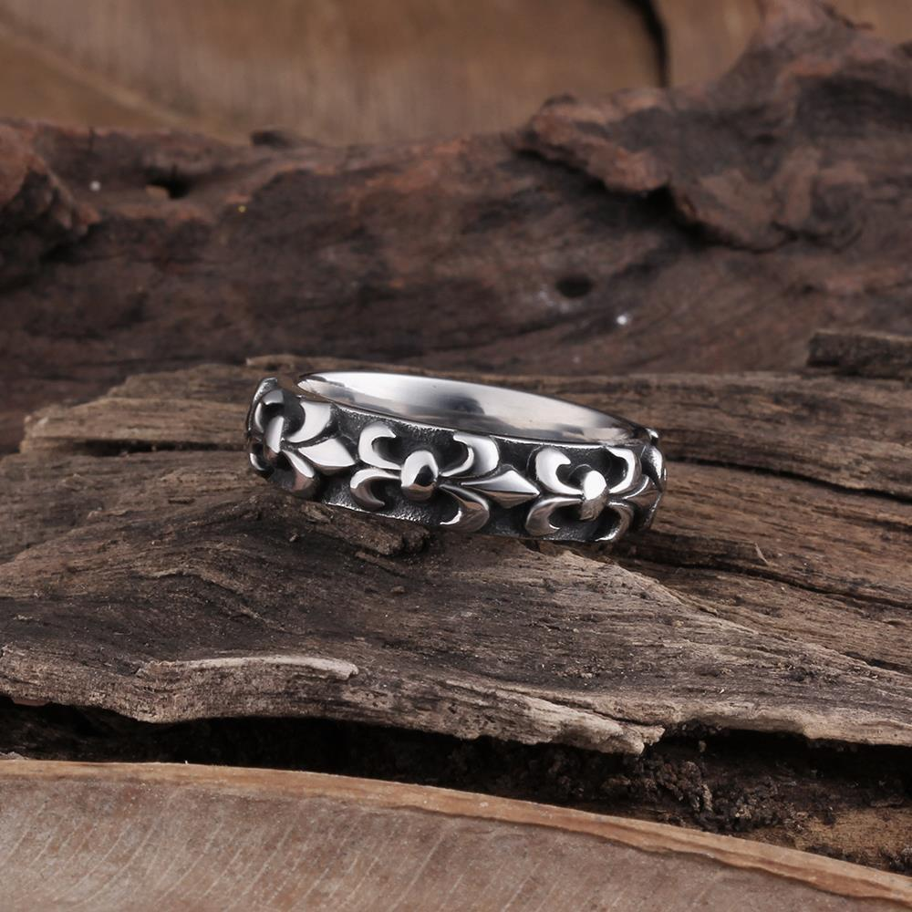 Vienna Jewelry French Emblem Stainless Steel Ring