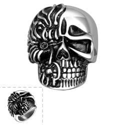Vienna Jewelry The Terminator Skull Ring - Thumbnail 0