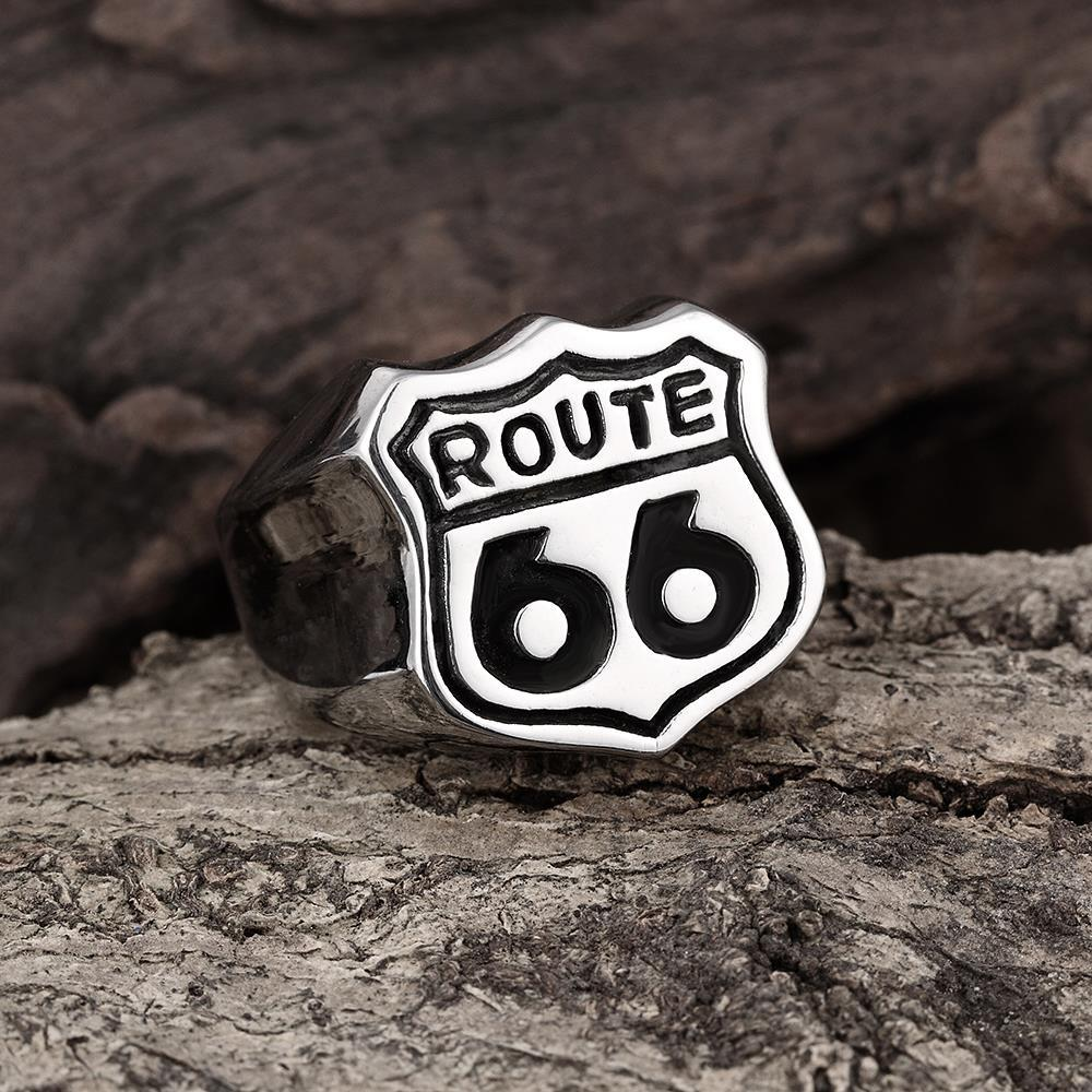 Vienna Jewelry Highway to Hell Stainless Steel Ring