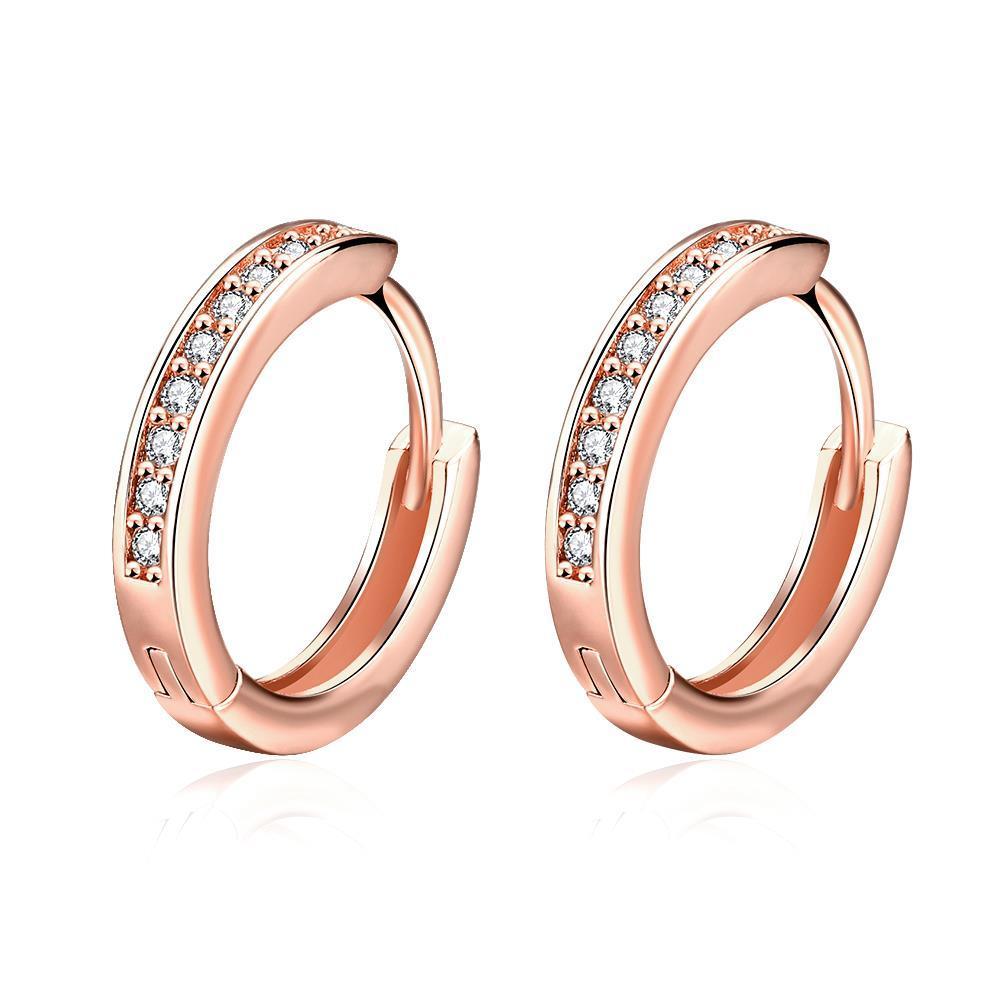 Vienna Jewelry Rose Gold Plated Petite Mini Hoop Earrings