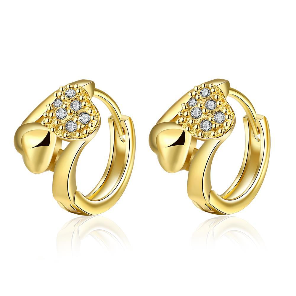 Vienna Jewelry Gold Plated Circular Crystal Hoops