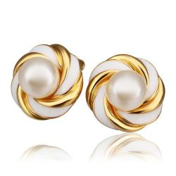 Vienna Jewelry 18K Gold Intertwined Love Knot Stud Earrings Made with Swarovksi Elements - Thumbnail 0
