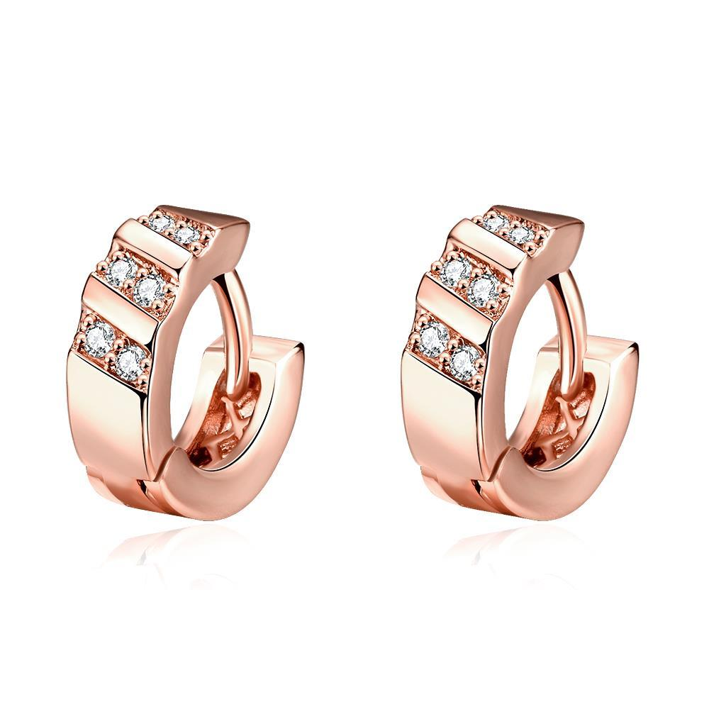Rose Gold Plated Classic Inspired Mini Hoop Earrings