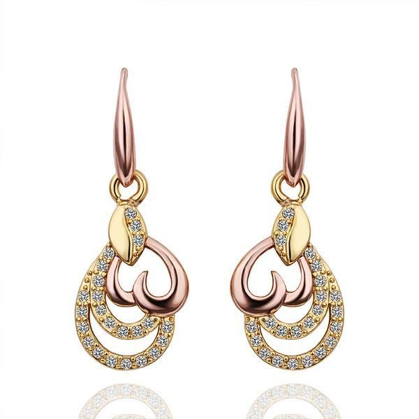 Vienna Jewelry 18K Gold Drop Down Earrings Made with Swarovksi Elements