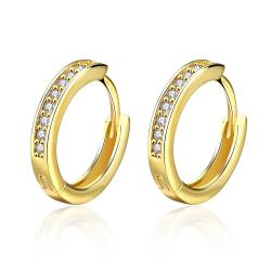 Vienna Jewelry Gold Plated Petite Mini Hoop Earrings