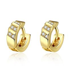 Gold Plated Classic Inspired Mini Hoop Earrings